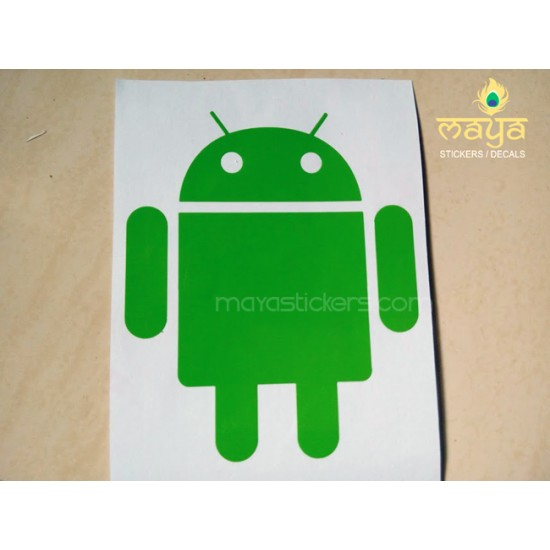 Android logo die cut sticker decal for bikes cars laptop set of
