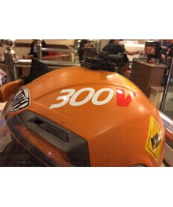 300V motul logo stickering on helmet