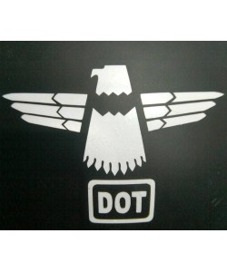 Eagle sticker for motorcycle helmets