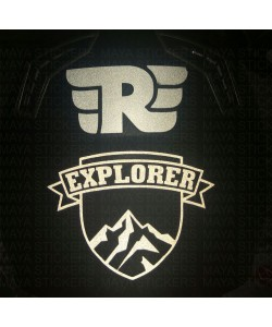 Royal enfield R and explorer reflective sticker for helmet