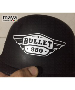 Bullet 350 logo sticker for helmets