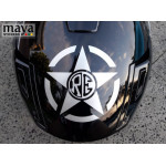 RE within Star design sticker for Royal Enfield Bikes