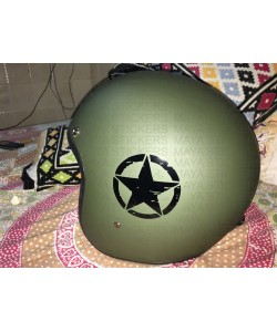 Scratched star sticker for helmets