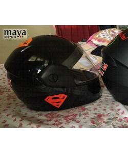 Superman logo stickers for helmets