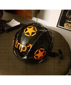 Trip sticker for helmets