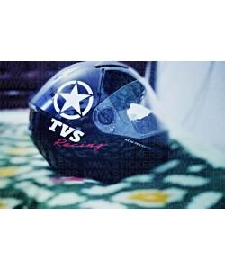 TVS racing stickers for helmets