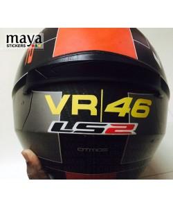 VR 46 logo sticker for helmets