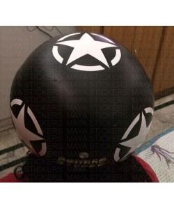 white star sticker for black helmets