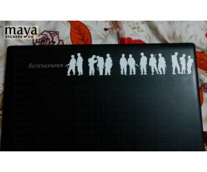 Band of brother soldiers sticker on lenovo laptop