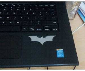Batman sticker on laptops
