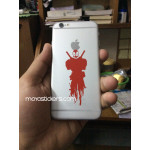 Deadpool bleeding style vinyl decal / sticker for cars, bikes  ,laptop and mobile (pair of 2 stickers)