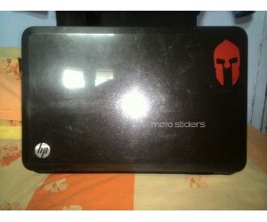 spartan helmet logo sticker for laptops