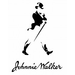 Old Johnnie walker logo sticker decal for bikes, cars and laptop