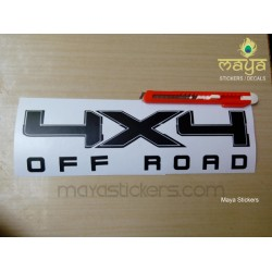 4 x 4 off road sticker for Thar, SUVs and other 4WD cars (custom colors available)