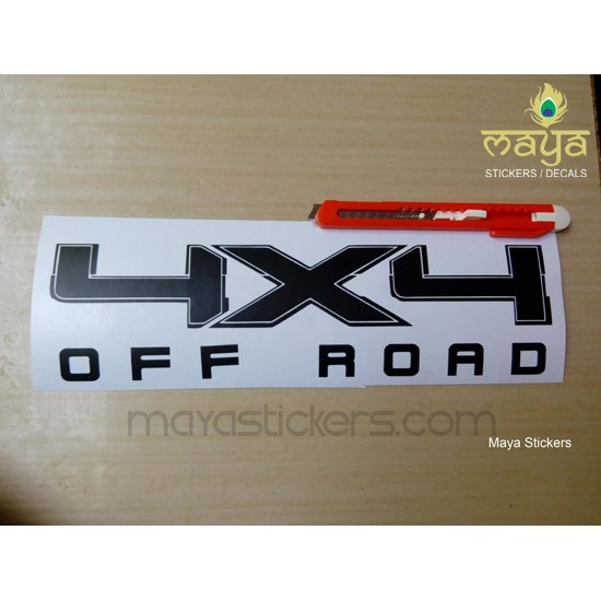 4 X 4 Off Road Sticker For Thar Suvs And Other 4wd Cars Custom Colors Available
