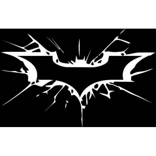 Batman splash design decal sticker in large 9 inch size suitable for cars and