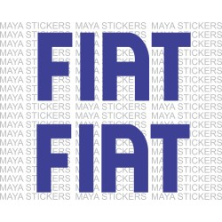 Fiat logo stickers. Pair of 2 Stickers. Available in custom sizes and colors