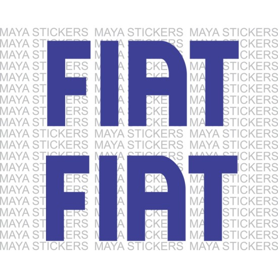 Fiat logo stickers pair of 2 stickers available in custom sizes and colors
