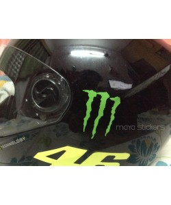 Monster claw logo sticker for helmets
