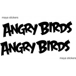 Angry birds logo sticker for Cars, bikes and Laptop (set of 2 stickers)