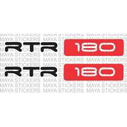Apache RTR 180 logo sticker for shockers / forks - Set of 2