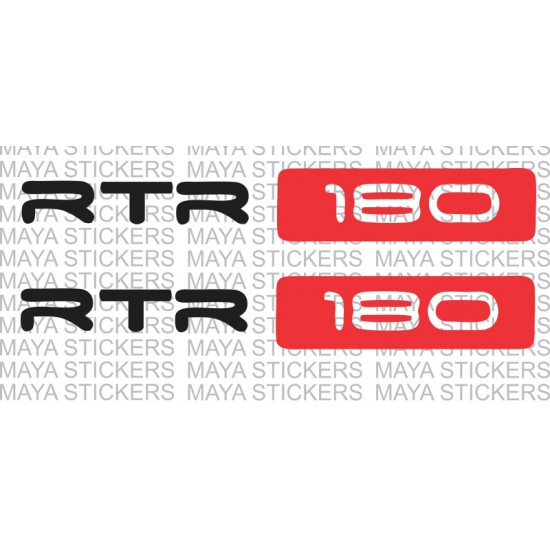 Apache RTR 180 logo sticker for bike stumps / forks / suspension