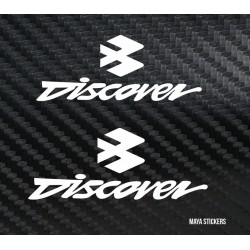 Bajaj Discover logo sticker / decal  (pair of 2) custom colors available