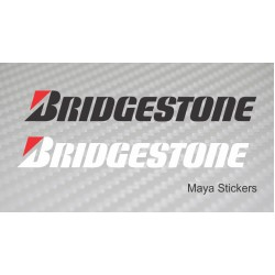 Bridgestone logo stickers / decal for bikes and cars. Pair of 2 stickers
