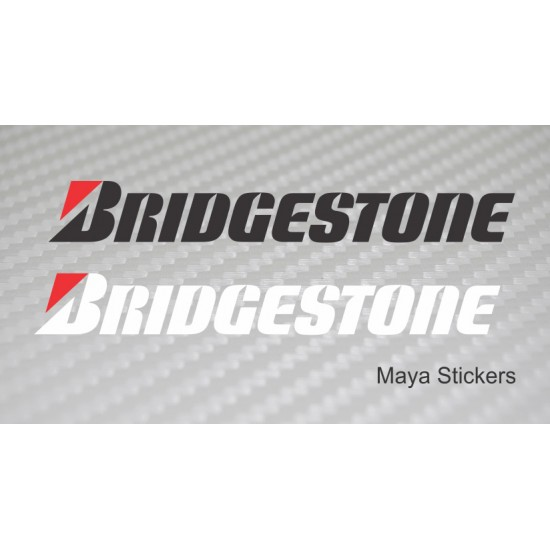 Bridgestone logo stickers decal for bikes and cars pair of 2 stickers