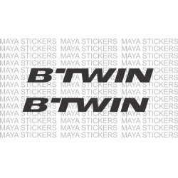 B'TWIN logo sticker for Bicycles, helmets (Pair of 2 stickers)