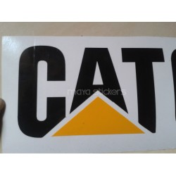 Cat - Caterpillar logo sticker / decal for cars , bikes, and laptop. Pair of 2 stickers