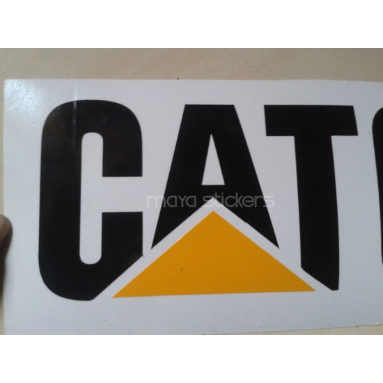 Cat caterpillar logo sticker decal for cars bikes and laptop pair of 2 stickers