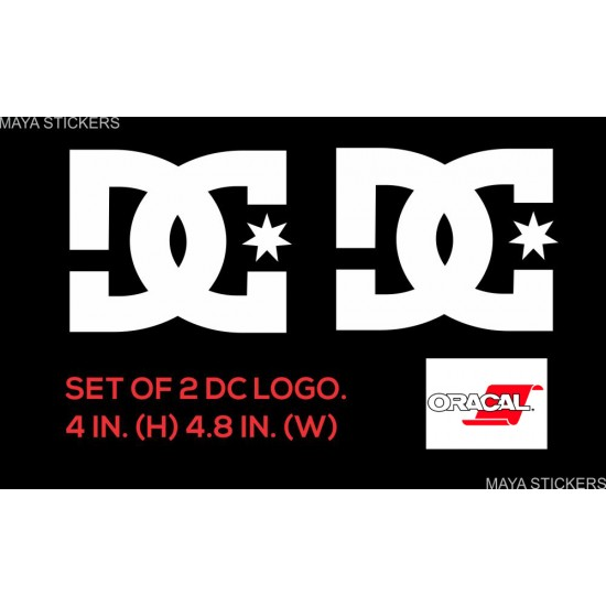 Dc logo sticker decal for bike fuel tank and other bikes and cars pair of