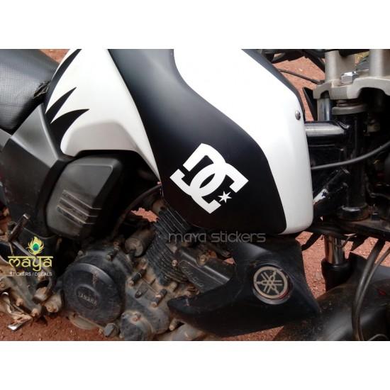 Custom DC logo sticker for Yamaha Fz buy online stickers ...