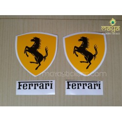 Ferrari logo stickers for Bikes and Car (Pair of 2 premium die cut stickers)
