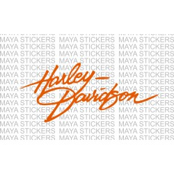 Harley Davidson logo sticker in Handwriting style.