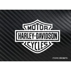 Harley Davidson logo sticker / decal for bikes / laptop.  custom sizes and colors