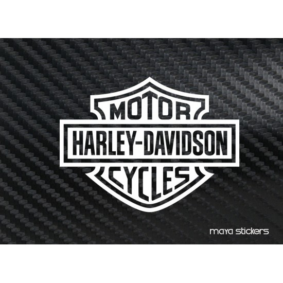 Harley davidson logo sticker decal for bikes laptop