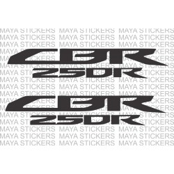 Honda CBR 250R logo sticker available in custom colors and sizes.