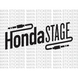 Honda Stage logo sticker for Honda activa, dio, and other honda cars and bikes