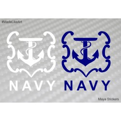 Indian navy logo / emblem custom sticker/ decal for Cars / bikes / laptop