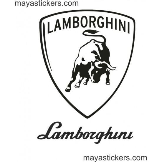 Lamborghini Shield Logo Decal For Cars Bikes And Laptop