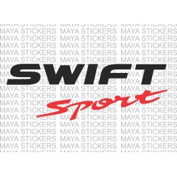 Suzuki swift sport logo stickers / decal (dual color)