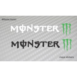 Monster energy full logo sticker / decal for Bikes / Cars / laptop / helmet- Pair of 2