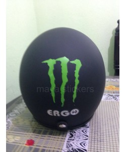 Monster logo stickering for Helmets