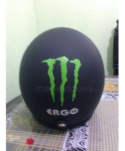 Monster logo stickering for Helmets