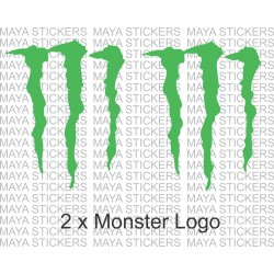 Monster logo sticker decal - (Pair of 2 stickers )- Custom sizes available