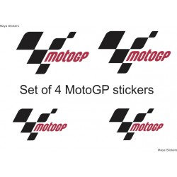 Moto GP logo stickers / Decal. Pair of 4 stickers. Lowest price globally