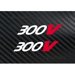 Motul 300V logo sticker for bikes and cars (pair of 2)