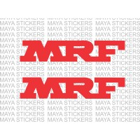 MRF logo stickers for Bikes, Cars, helmet and bat (Pair of 2 stickers)